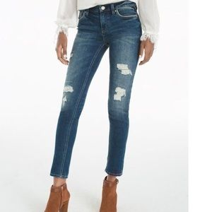 WHBM Distressed Girlfriend Jeans Size 6